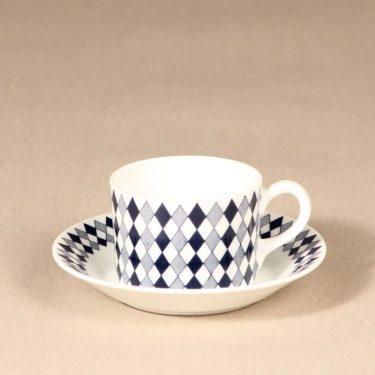 Arabia Pajazzo mocha cup, blue, Raija Uosikkinen