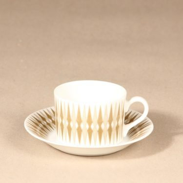 Arabia Revontuli mocha cup, gray, Raija Uosikkinen