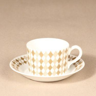 Arabia Pajazzo mocha cup, gray, Raija Uosikkinen