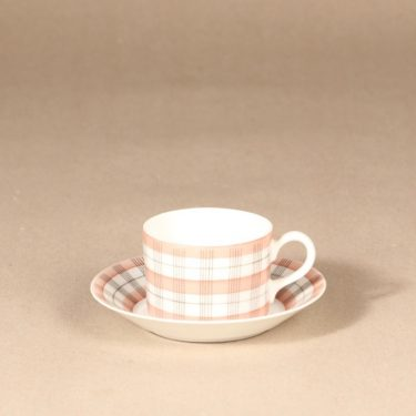 Arabia Verkko mocha cup, hand-painted, Esteri Tomula,