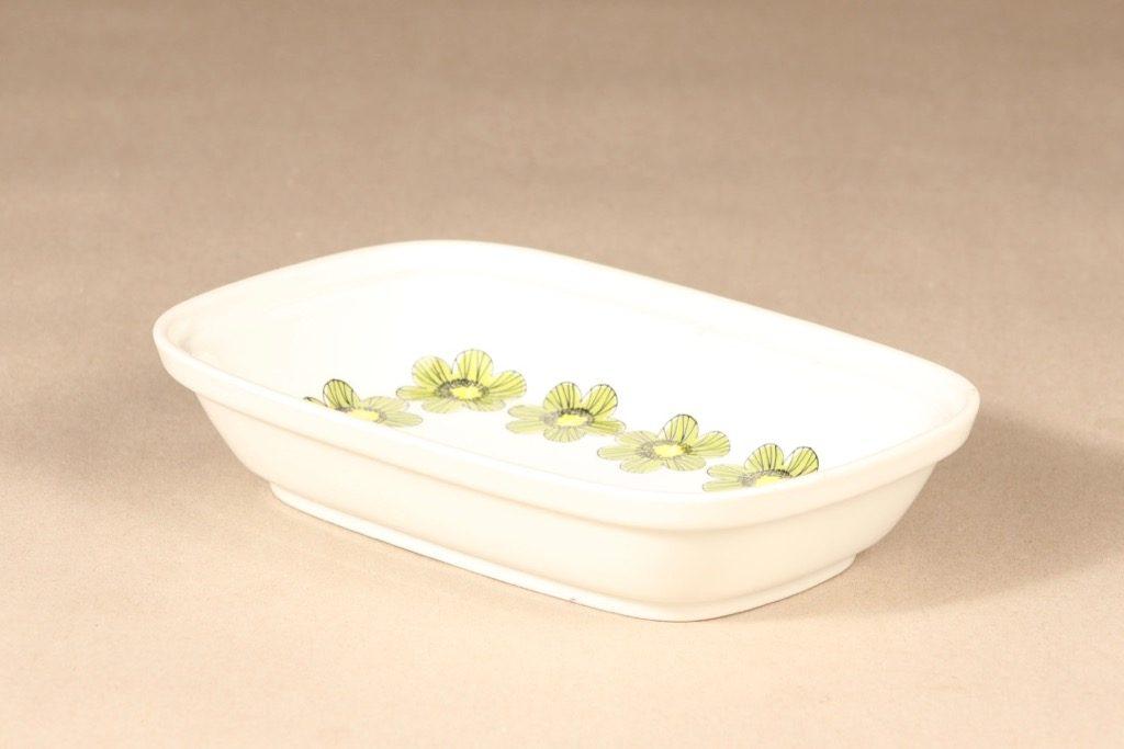 Arabia Primavera tarjoilukulho, syvä, suunnittelija Esteri Tomula, syvä, serikuva, kukka-aihe