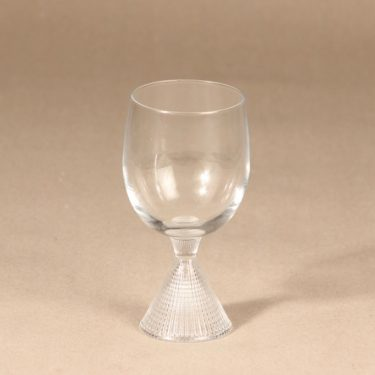Iittala Briljant white wine glass, clear, Tapio Wirkkala