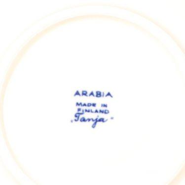 Arabia Tanja kahvikuppi ja lautaset, sininen, 3 kpl, suunnittelija Esteri Tomula, serikuva kuva 4