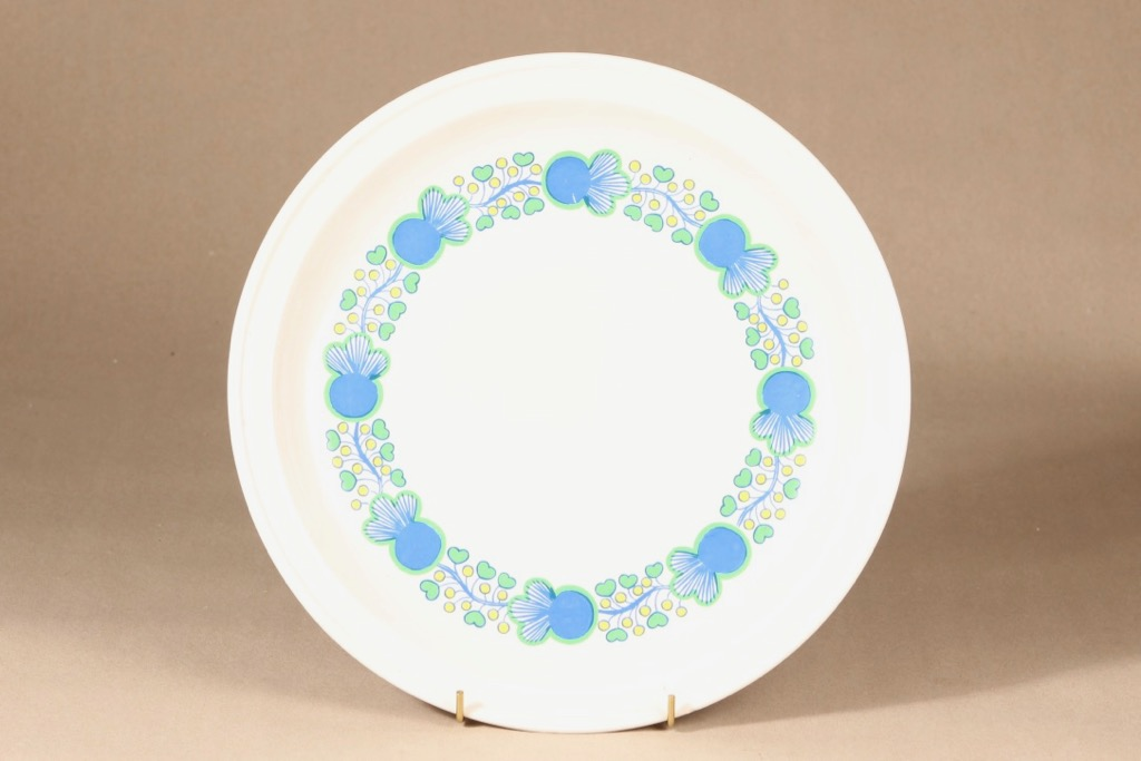 Arabia A platter, multicolored, designer Laila Hakala, silk screening, flower theme, retro