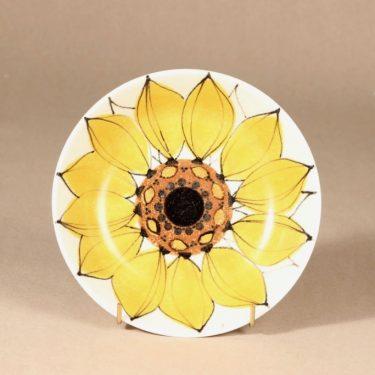 Arabia Aurinkoruusu lautanen, syvä, suunnittelija Hilkka-Liisa Ahola, syvä, käsinmaalattu, syvä, signeerattu kuva 2