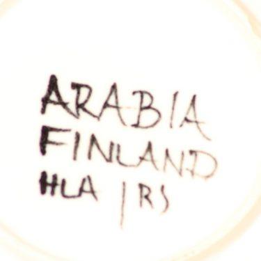 Arabia Aurinkoruusu lautanen, syvä, suunnittelija Hilkka-Liisa Ahola, syvä, käsinmaalattu, syvä, signeerattu kuva 3