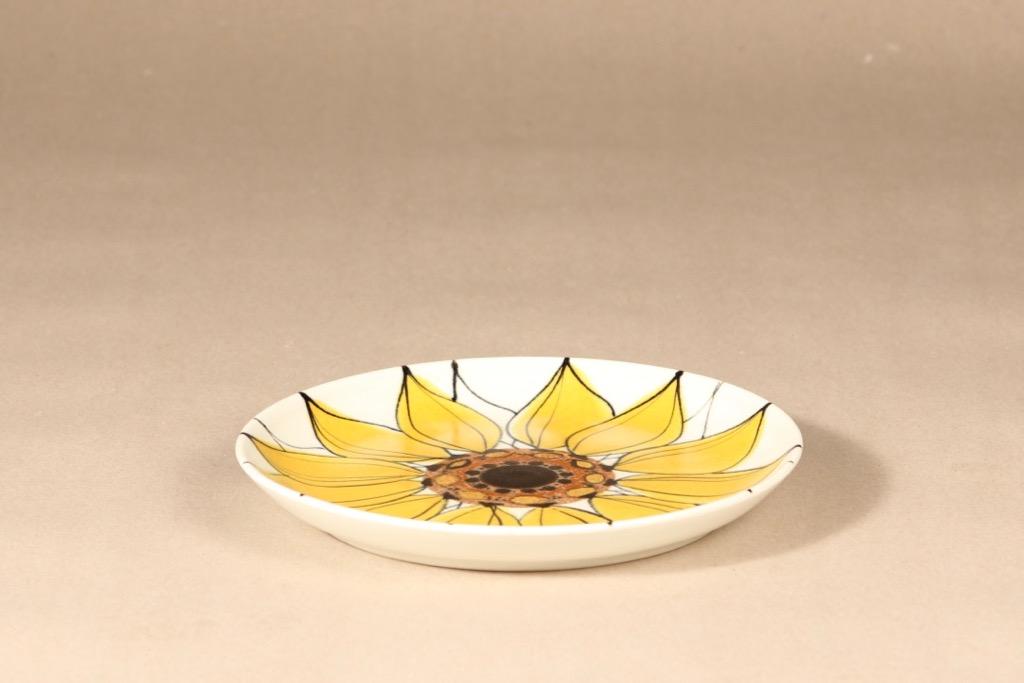 Arabia Aurinkoruusu lautanen, matala, suunnittelija Hilkka-Liisa Ahola, matala, käsinmaalattu, matala, signeerattu