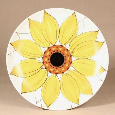 Arabia Aurinkoruusu tarjoiluvati, käsinmaalattu, suunnittelija Hilkka-Liisa Ahola, käsinmaalattu, käsinmaalattu, matala, signeerattu