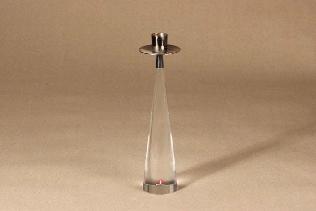 Iittala Ascot kynttilänjalka, kirkas, suunnittelija Timo Sarpaneva,