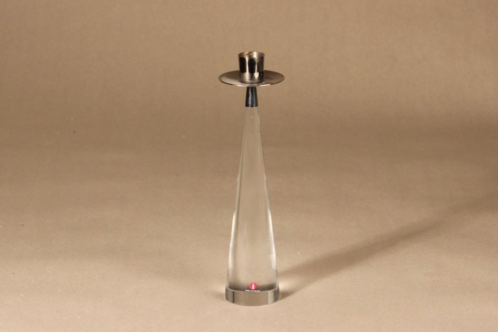 Iittala Ascot candlestick, clear, designer Timo Sarpaneva
