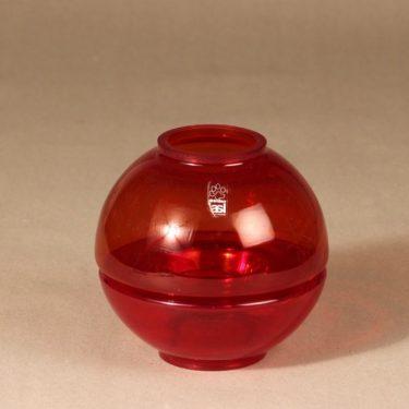 Riihimäen lasi Mars tuikkulyhty, punainen, suunnittelija Tamara Aladdin, 2-osainen