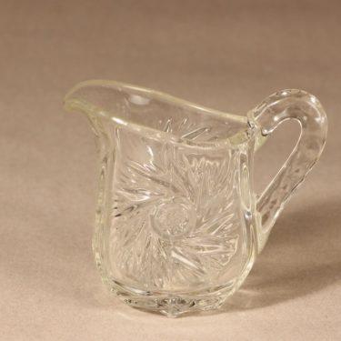 Riihimäen lasi sokerikko ja kermakko, kirkas, 2 kpl, suunnittelija ,  kuva 3