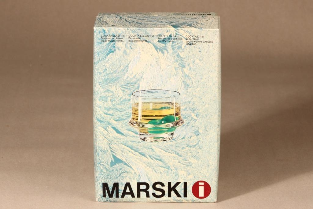 Iittala Marski Cocktaillasit, 6 kpl, 6 kpl, suunnittelija Tapio Wirkkala, 6 kpl