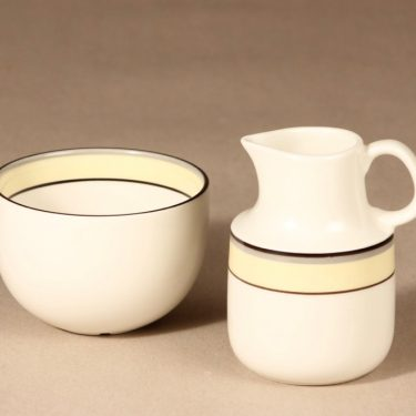 Arabia Veranda sugar bowl and creamer, Inkeri Leivo