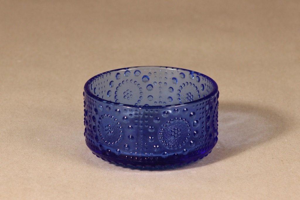 Riihimäen lasi Grapponia dessert bowl, blue, Nanny Still