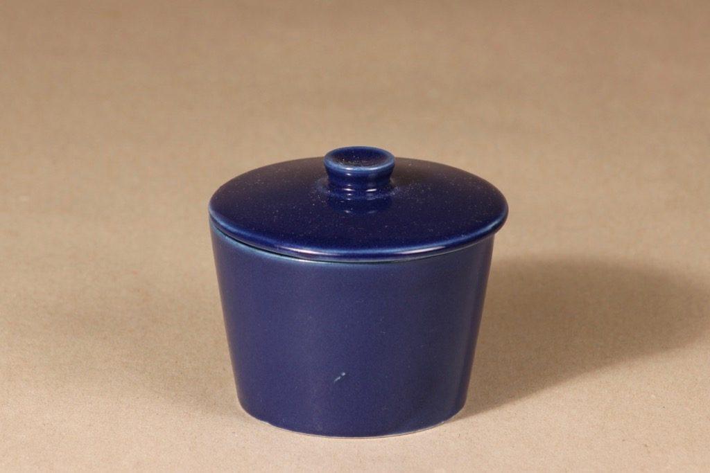 Arabia Kilta sugar bowl, blue glaze, Kaj Franck,