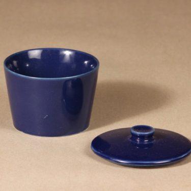 Arabia Kilta sugar bowl, blue glaze, Kaj Franck, 2
