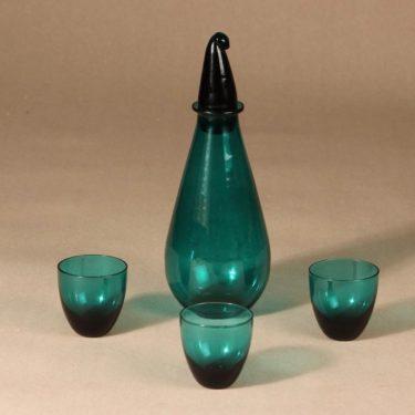 Riihimäen lasi Nukkumatti Karahvi + 3 lasia, 32 cl|5 cl, 4 kpl, suunnittelija Nanny Still, 32 cl, 5 cl