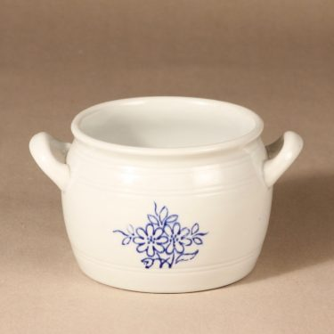 Arabia kukkakuvio pot, 1 l, cobalt painting, buttered