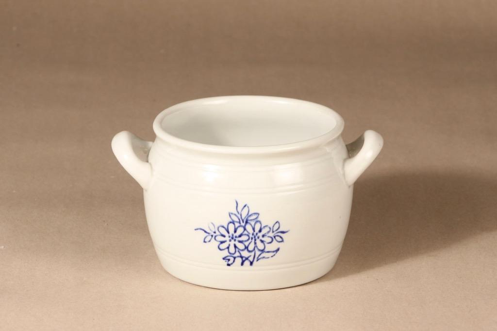 Arabia kukkakuvio ruukku, 1 l, suunnittelija , 1 l, kobolttimaalaus, voipytty