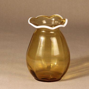 Kauklahden lasi maljakko, ruskea, suunnittelija ,