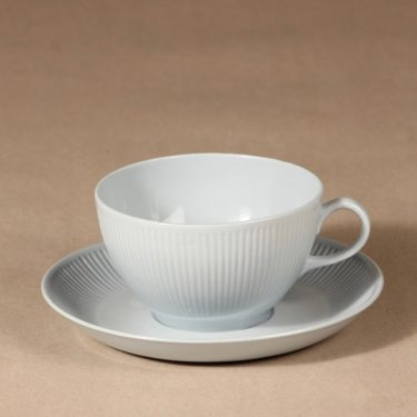 Arabia Sointu tea cup, saucer and plate, light blue, Kaj Franck, 2