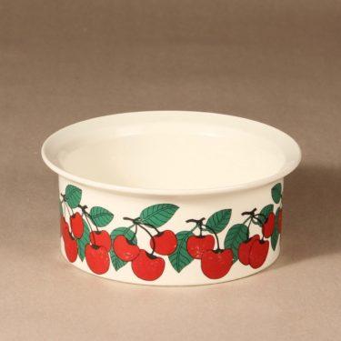 Arabia Kirsikka bowl, red, designer Inkeri Seppälä, silk screening, berry theme