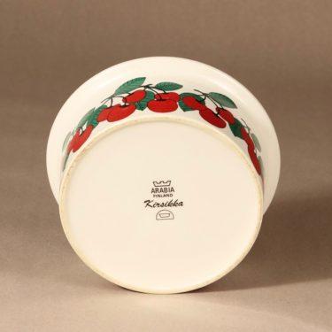 Arabia Kirsikka kulho, punainen, suunnittelija Inkeri Seppälä, serikuva, marja-aihe kuva 4