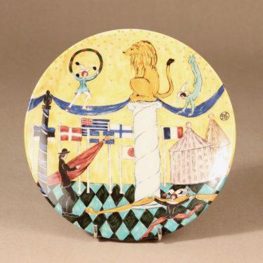 Arabia horoskooppi seinälautanen, Leijona, suunnittelija Dorrit von Fieandt, Leijona, leijona