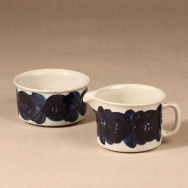 Arabia Anemone sugar bowl and creamer, hand-painted, designer Ulla Procope, hand-painted