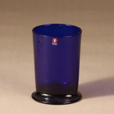 Iittala Boy glass, cobalt blue, designer Stefan Lindfors