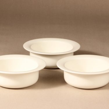 Arabia Arctica serving bowl, white, 3 pcs, designer Inkeri Leivo