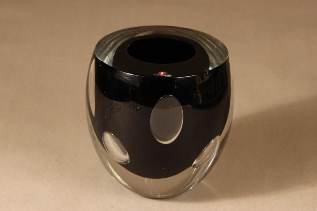 Iittala Claritas art glass, signed, designer Timo Sarpaneva, massive, serially numbered