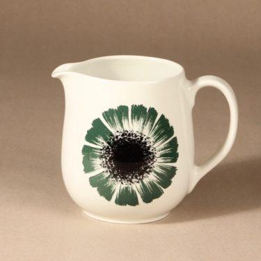 Arabia Asteri kaadin, musta/vihreä, suunnittelija , kukkakuvio, serikuva