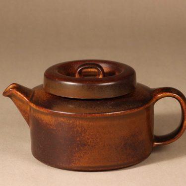 Arabia Ruska teekaadin, 1.35 l,   kpl, suunnittelija Ulla Procope, 1.35 l, ruskea lasite