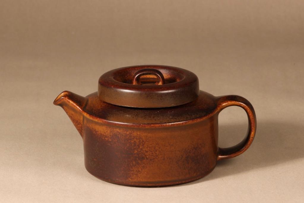 Arabia Ruska teapot, 1.35 l, pcs, designer Ulla Procope, brown glazing