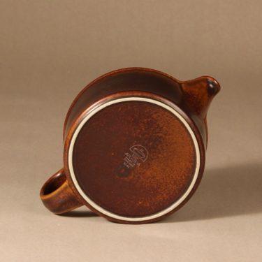 Arabia Ruska teekaadin, 1.35 l,   kpl, suunnittelija Ulla Procope, 1.35 l, ruskea lasite kuva 3