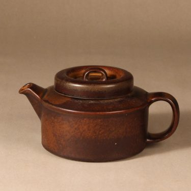 Arabia Ruska tea pot, 1.35 l, designer Ulla Procope, brown glazing