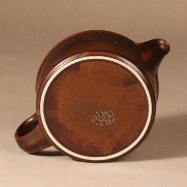 Arabia Ruska teekaadin, 1.35 l, suunnittelija Ulla Procope, 1.35 l, ruskea lasite kuva 3
