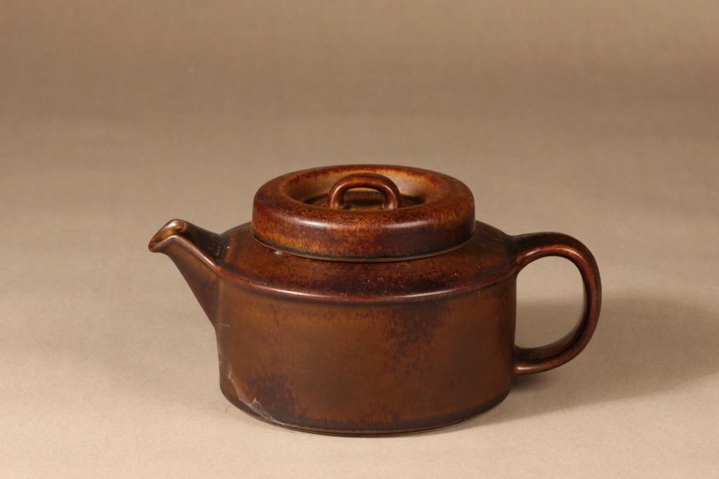 Arabia Ruska tea cup, 1.35 l, designer Ulla Procope, brown glazing