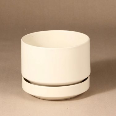 Arabia SN1 flower pot, white, designer Richard Lindh