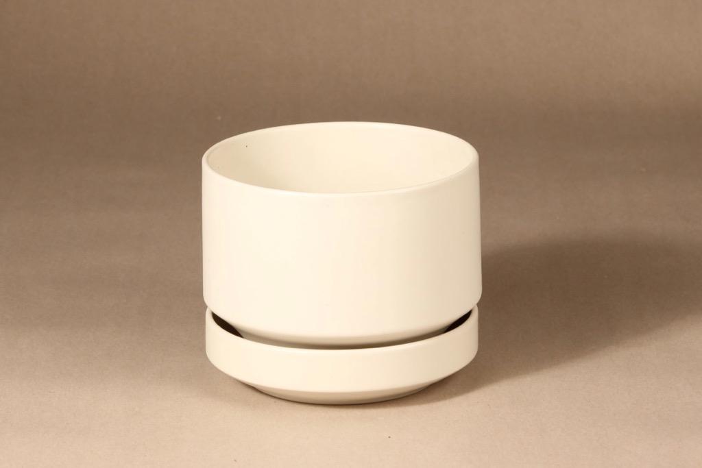 Arabia SN1 flower pot, white, designer Richard Lindh