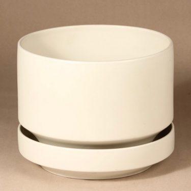 Arabia SN1 kukkaruukku, valkoinen, suunnittelija Richard Lindh,