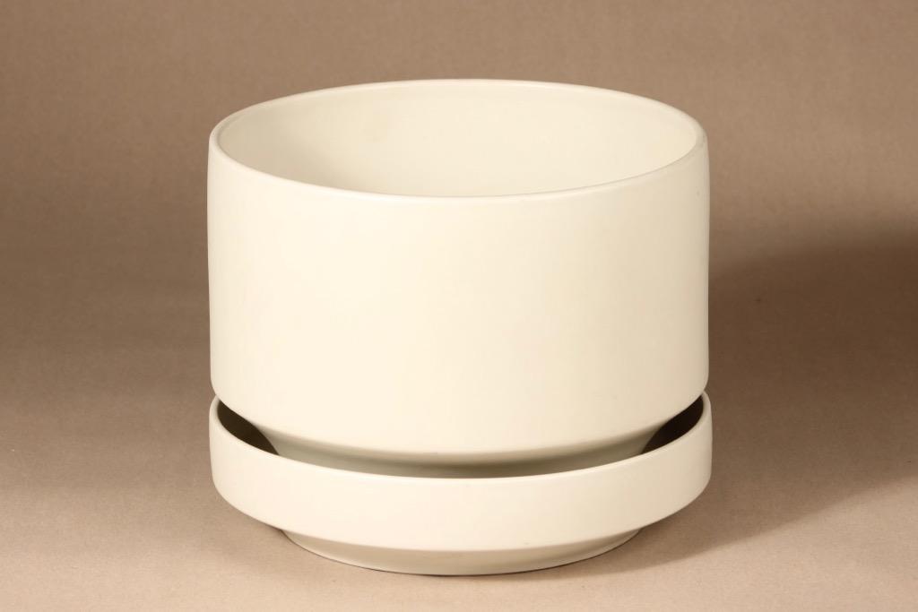 Arabia SN1 flowerpot, white, designer Richard Lindh