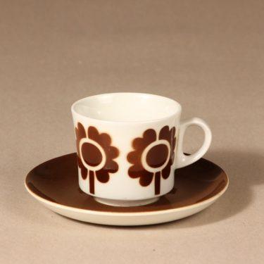 Arabia Miranda coffee cup, blown decoration, retro