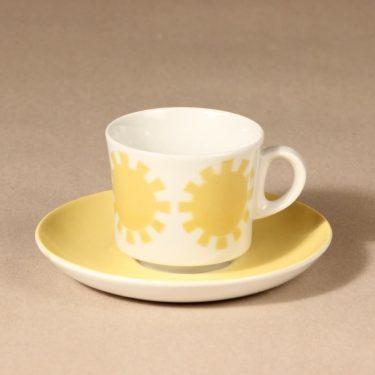 Arabia BR coffee cup, blown decoration, retro