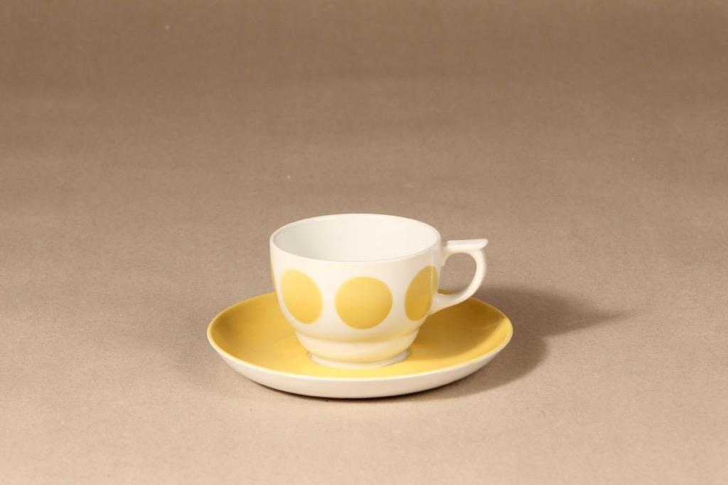 Arabia ML coffee cup, blown decoration, retro