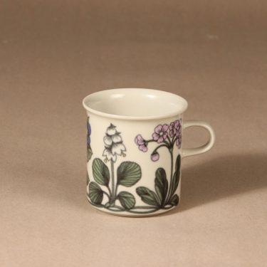 Arabia Flora kaakaokuppi, monivärinen, suunnittelija Esteri Tomula, serikuva, kukkakuvio