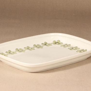 Arabia Primavera tarjoilukulho, vihreä, suunnittelija Esteri Tomula, serikuva/kukka-aihe, retro kuva 2