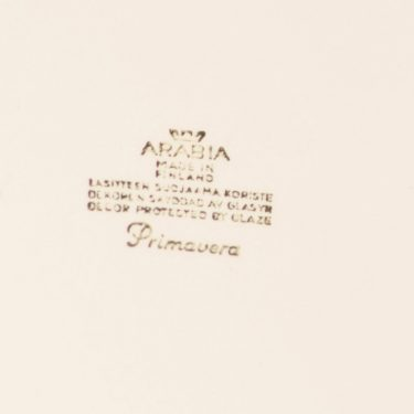 Arabia Primavera tarjoilukulho, vihreä, suunnittelija Esteri Tomula, serikuva/kukka-aihe, retro kuva 3